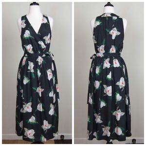 BANANA REPUBLIC Floral Midi Wrap Dress